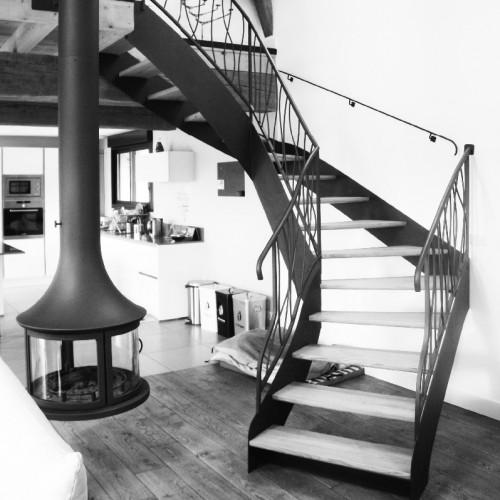 Escalier en ferronnerie
